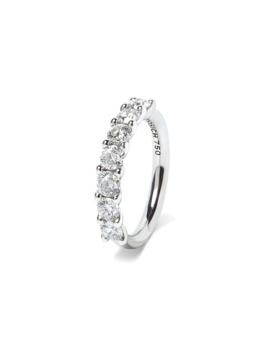 anillo alianza compromiso oro blanco diamantes blancos 7 018 rosich