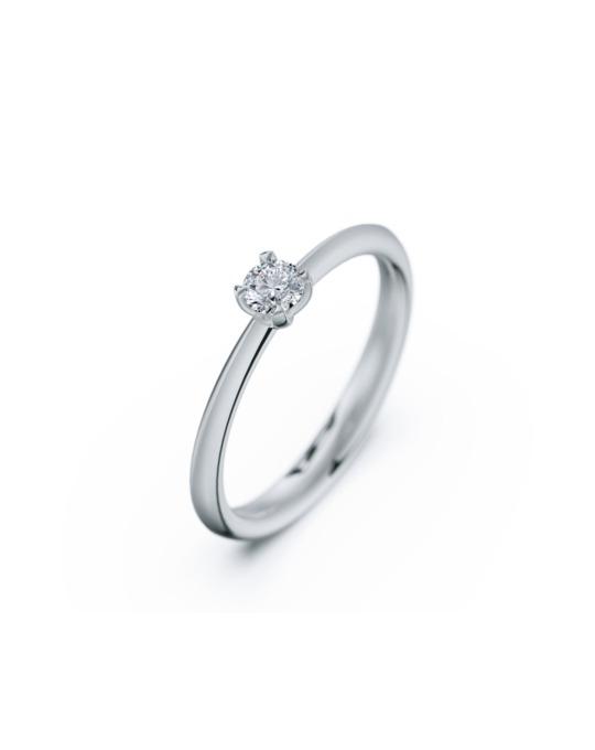 anillo solitario compromiso fine oro blanco diamantes blanco 015 rosich