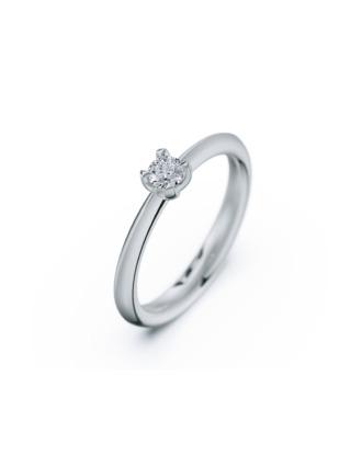 anillo solitario compromiso oro blanco diamantes blanco 015 rosich