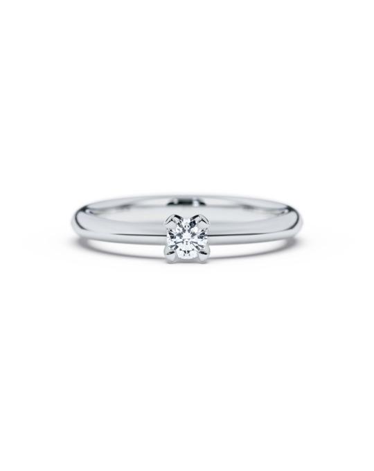 anillo solitario compromiso oro blanco diamantes blanco 015 diamantes rosich