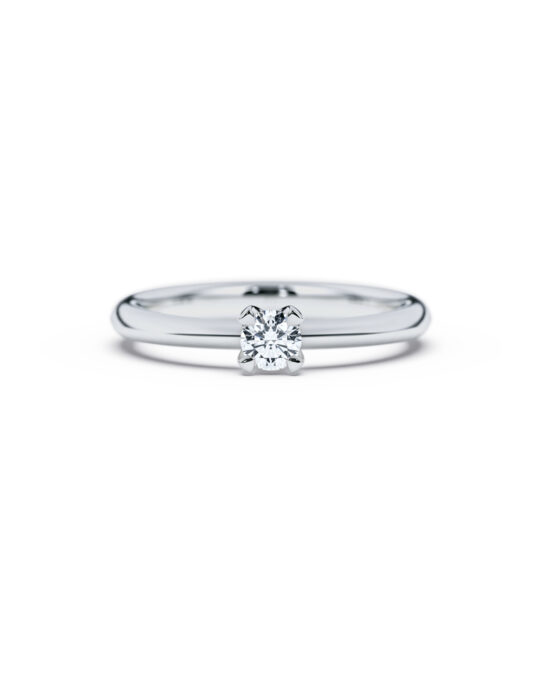 anillo solitario compromiso oro blanco diamantes blanco 020 diamantes rosich