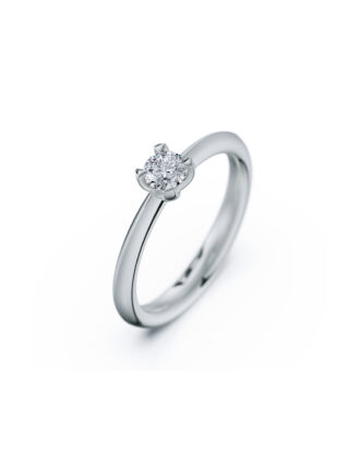 anillo solitario compromiso oro blanco diamantes blanco 025 rosich