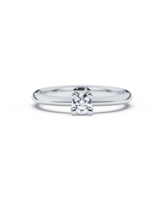 anillo solitario compromiso oro blanco diamantes blanco 025 diamantes rosich