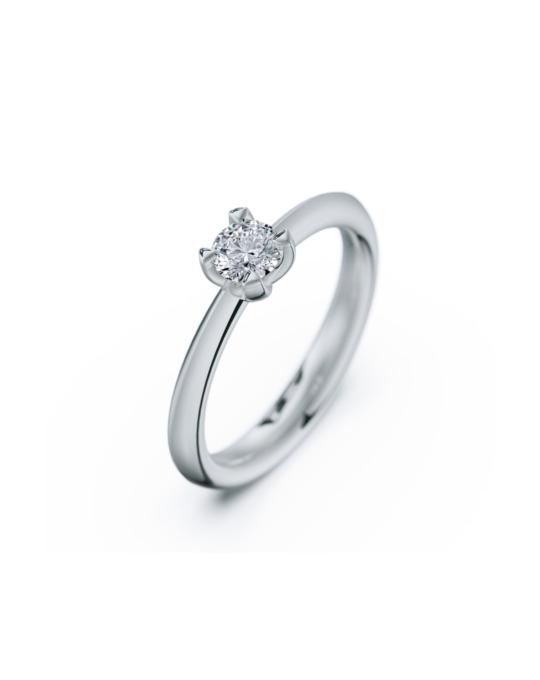 anillo solitario compromiso oro blanco diamantes blanco 030 rosich