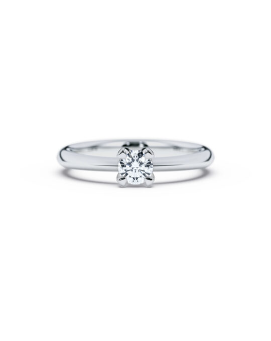 anillo solitario compromiso oro blanco diamantes blanco 030 diamantes rosich