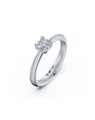 anillo solitario compromiso oro blanco diamantes blanco 035 rosich