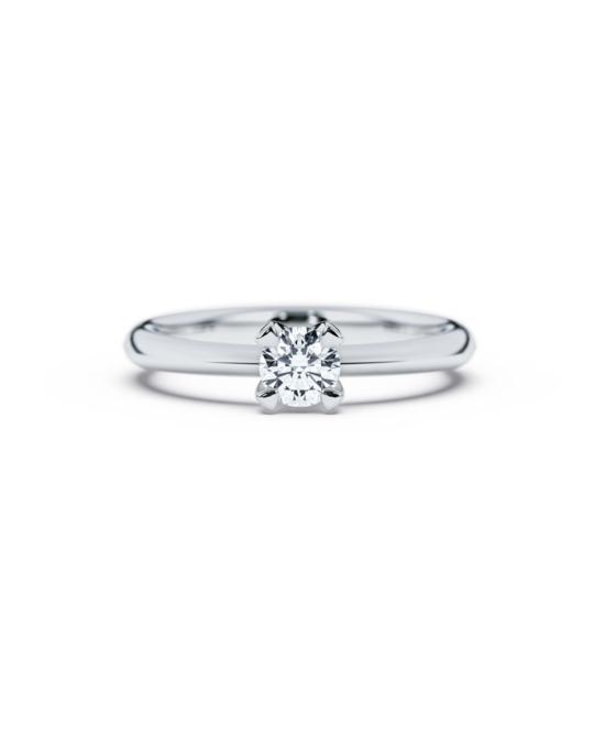 anillo solitario compromiso oro blanco diamantes blanco 035 diamantes rosich