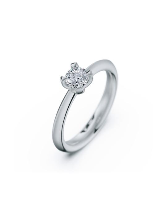 anillo solitario compromiso oro blanco diamantes blanco 040 rosich