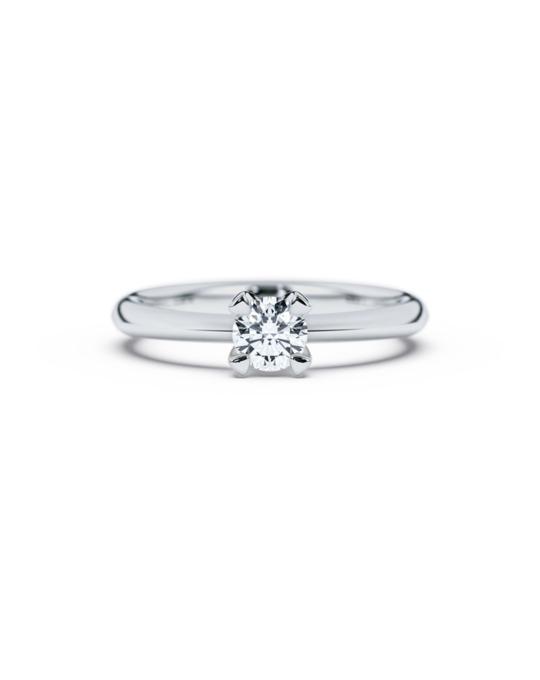 anillo solitario compromiso oro blanco diamantes blanco 040 diamantes rosich