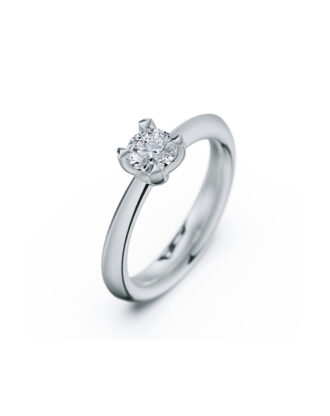 anillo solitario compromiso oro blanco diamantes blanco 050 rosich