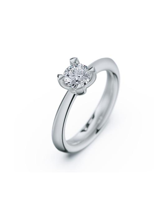 anillo solitario compromiso oro blanco diamantes blanco 060 rosich