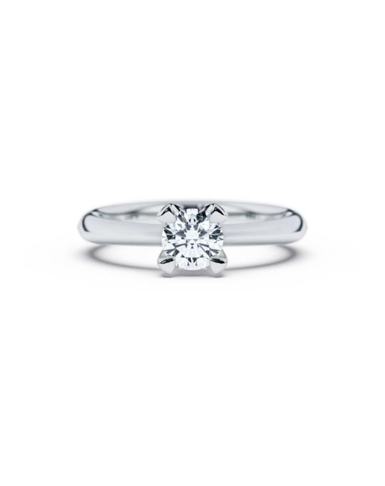 anillo solitario compromiso oro blanco diamantes blanco 060 diamantes rosich