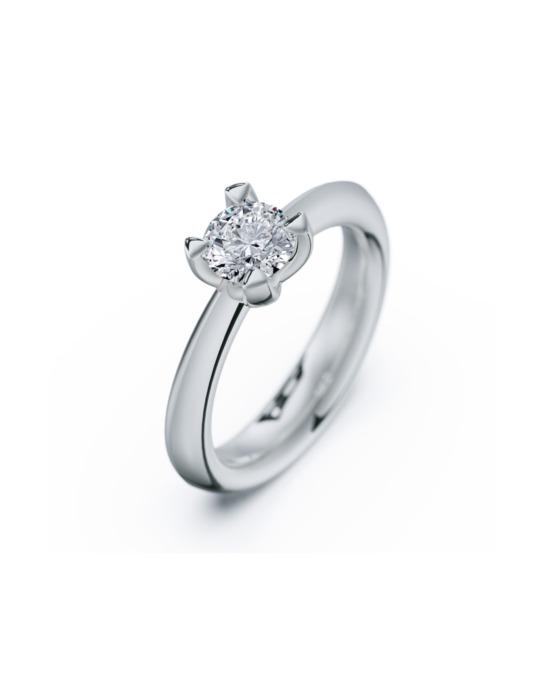 anillo solitario compromiso oro blanco diamantes blanco 070 rosich