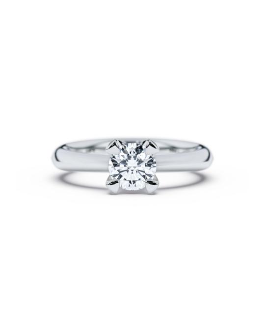 anillo solitario compromiso oro blanco diamantes blanco 090 diamantes rosich