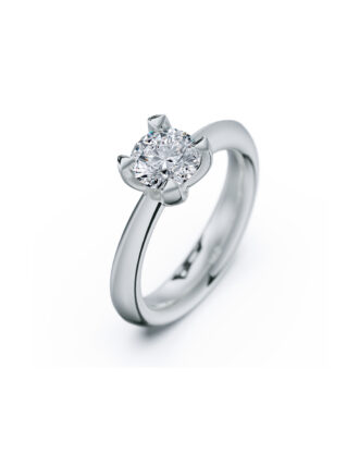 anillo solitario compromiso oro blanco diamantes blanco 1,00 rosich