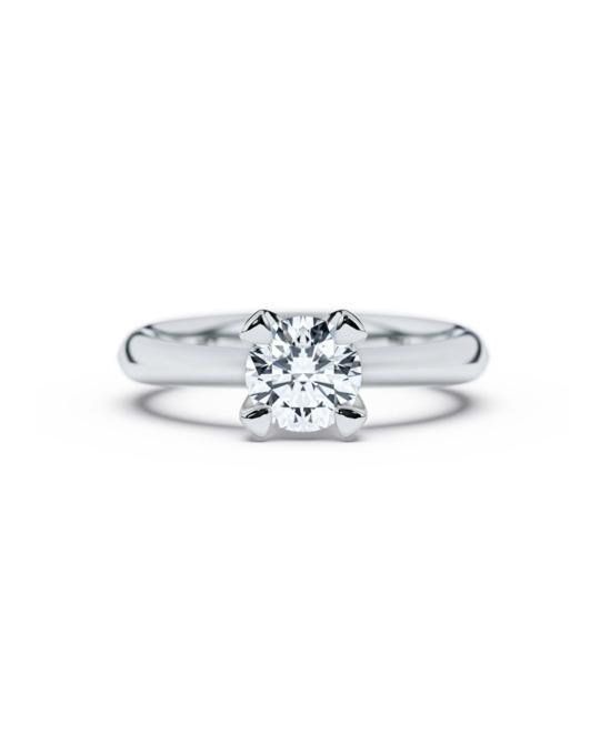anillo solitario compromiso oro blanco diamantes blanco 1,00 diamantes rosich