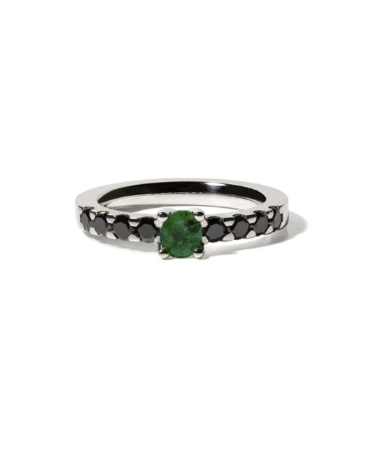anillo specials esmeralda oro rosa diamantes color diamantes rosich