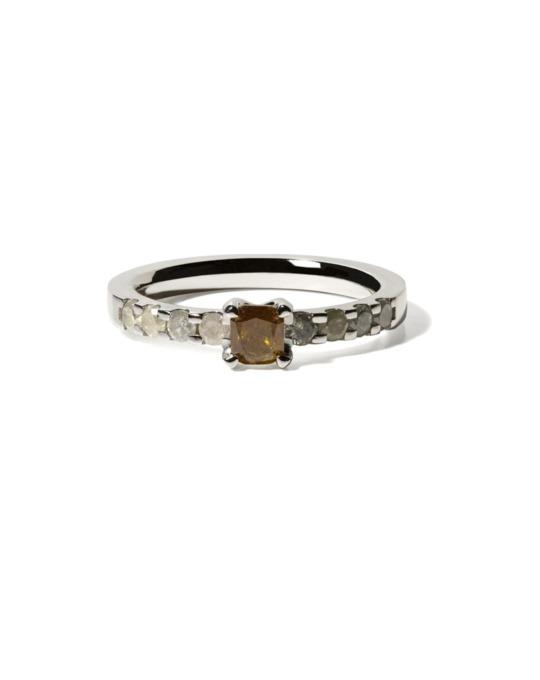 anillo specials oro blanco diamantes color diamantes rosich