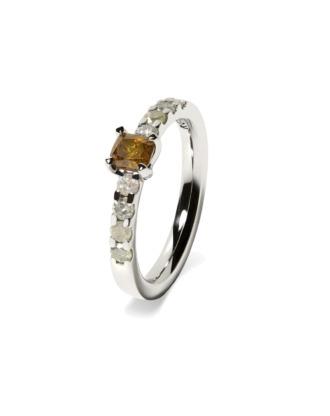 anillo specials oro blanco diamantes color rosich