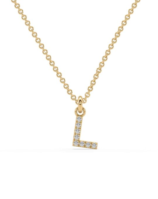 collar identity oro amarillo diamantes blancos L rosich