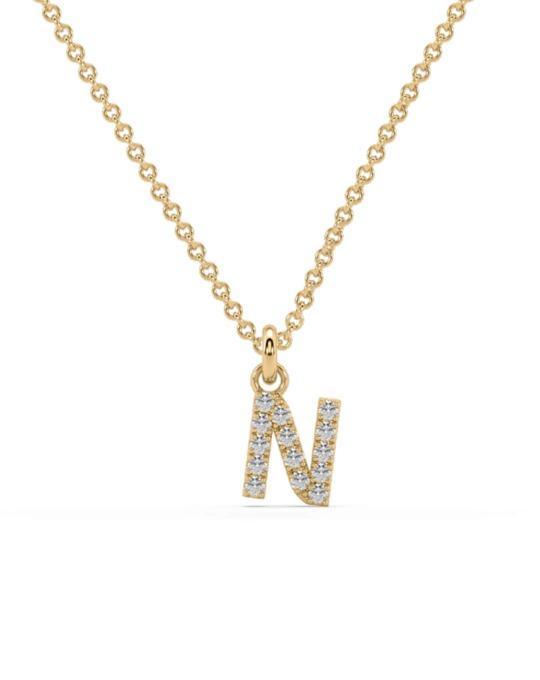 collar identity oro amarillo diamantes blancos N rosich