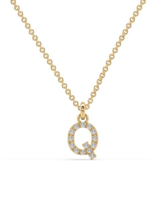 collar identity oro amarillo diamantes blancos Q rosich