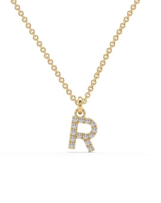 collar identity oro amarillo diamantes blancos R rosich