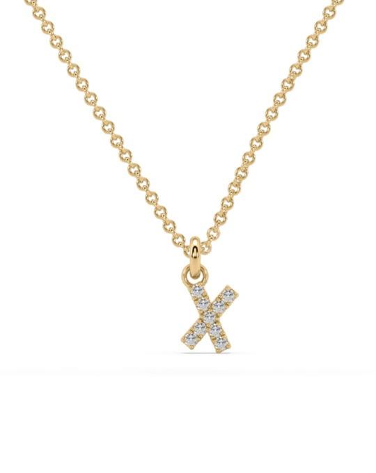 collar identity oro amarillo diamantes blancos X rosich
