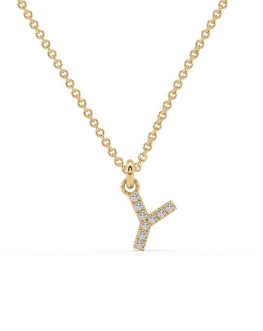collar identity oro amarillo diamantes blancos Y rosich