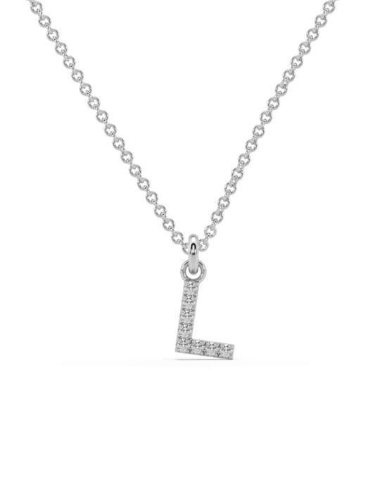 collar identity oro blanco diamantes blancos L rosich