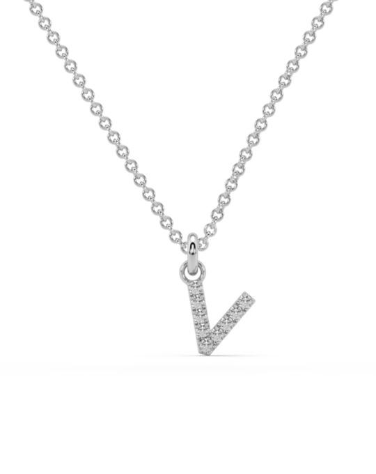 collar identity oro blanco diamantes blancos V rosich