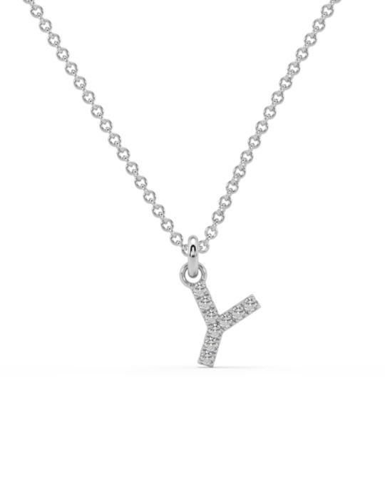 collar identity oro blanco diamantes blancos Y rosich