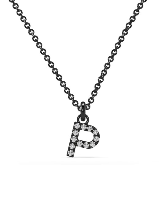 collar identity oro negro diamantes blanco P rosich
