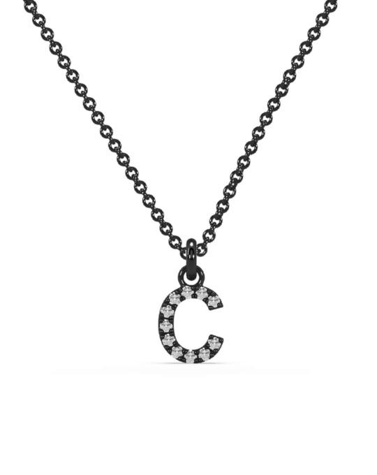 collar identity oro negro diamantes blancos C rosich