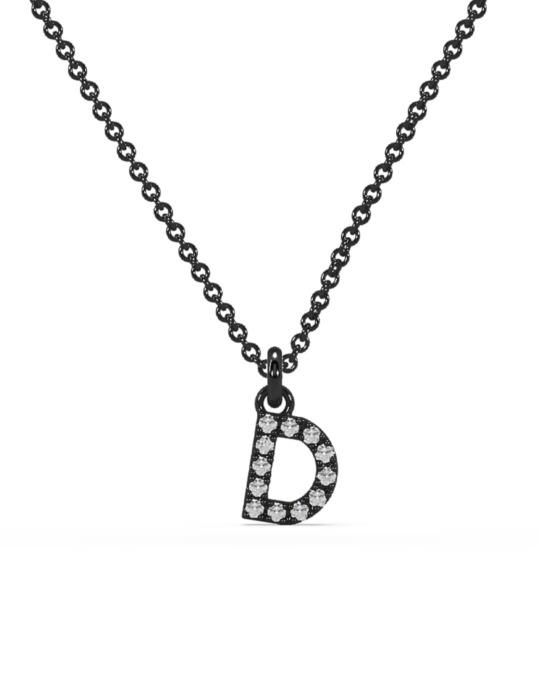 collar identity oro negro diamantes blancos diamantes  rosich
