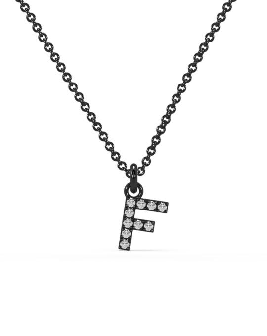 collar identity oro negro diamantes blancos F rosich