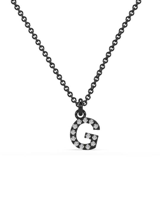 collar identity oro negro diamantes blancos g rosich