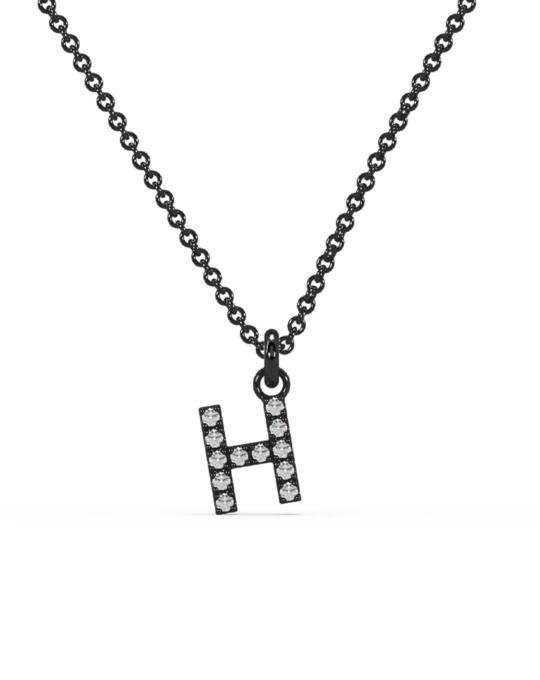 collar identity oro negro diamantes blancos H rosich