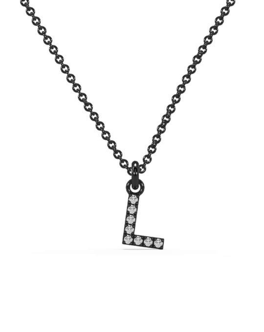collar identity oro negro diamantes blancos L rosich