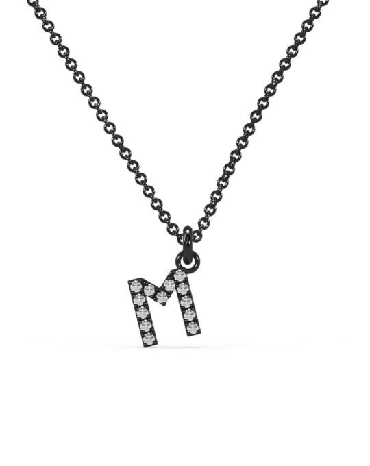 collar identity oro negro diamantes blancos M rosich