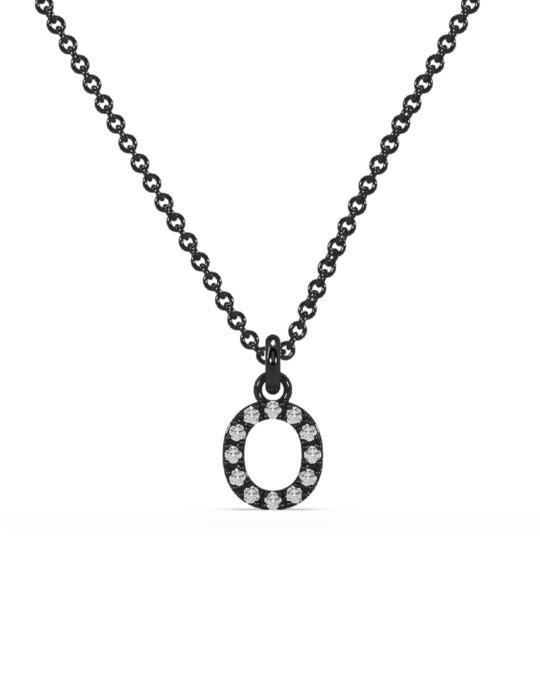 collar identity oro negro diamantes blancos O rosich