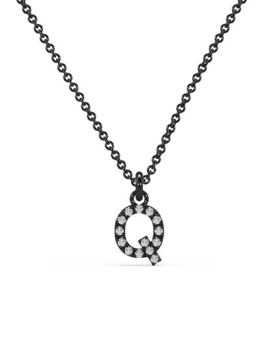 collar identity oro negro diamantes blancos Q rosich