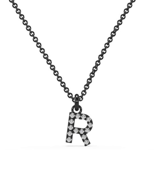 collar identity oro negro diamantes blancos R rosich