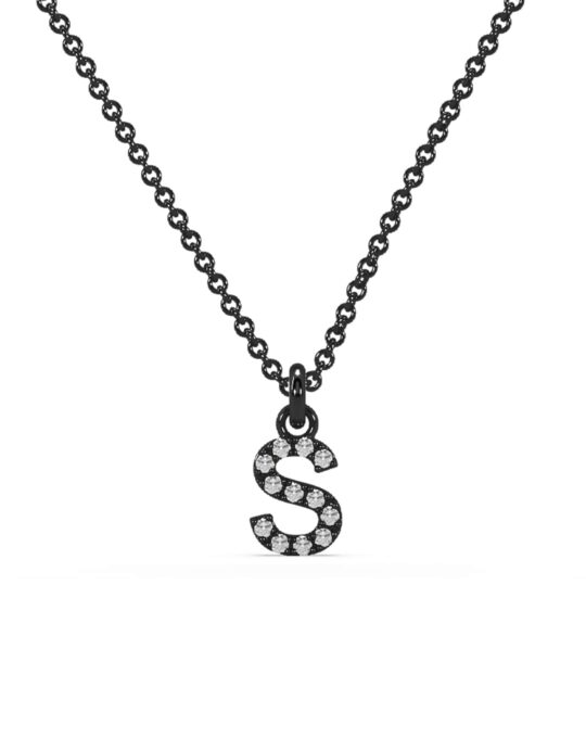 collar identity oro negro diamantes blancos S rosich