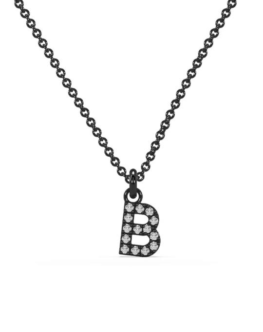collar identity oro negro diamantes blancos rosich