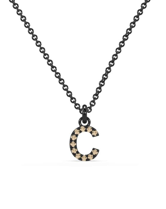 collar identity oro negro diamantes marrones C rosich