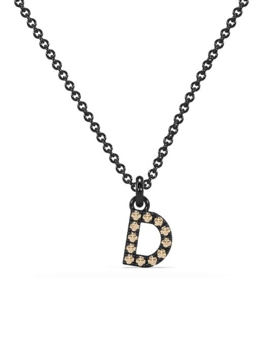 collar identity oro negro diamantes marrones diamantes  rosich