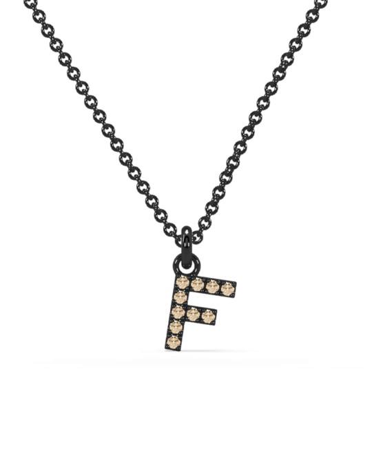 collar identity oro negro diamantes marrones F rosich