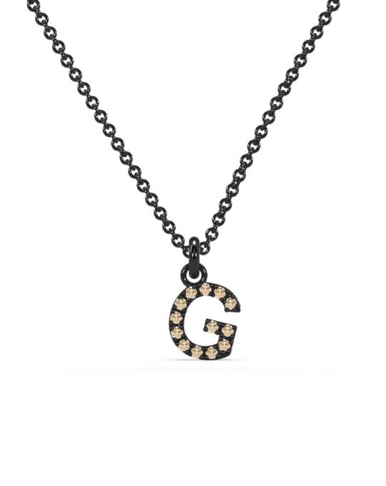 collar identity oro negro diamantes marrones G rosich