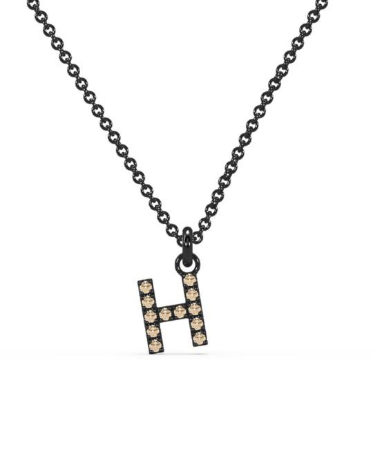 collar identity oro negro diamantes marrones H rosich